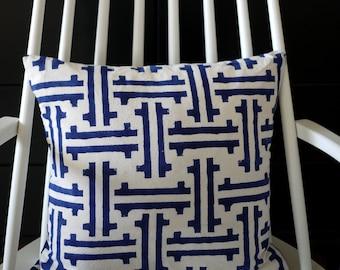 "block printed cushion cover ""Hangzhou"""