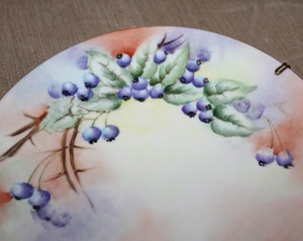 SALE Antique Limoges Hand Painted Decorative Plate, B&Co Bernardaud and Co.,1900-1914, France, Signed by Artist, 1910's Era Collectible NICE