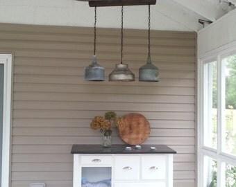 Vintage funnel chandelier