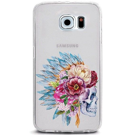 headdress skull galaxy s6 case feathers floral hipster