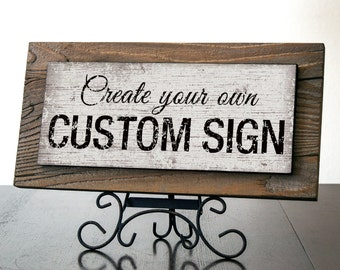 LONDON - Custom Signs with Reclaimed Wood. Rustic Signs. Wedding Decor. Restaurant Decor. Coffee Shop Decor. Bar Sign. Office Sign. 12x5