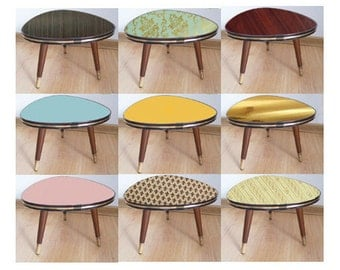 15% off - Mid Century - Coffe Table - Germany 1950s - Tripod - Plant Stool - Colors