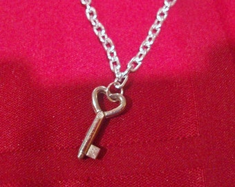 Key affixed to 16-24 inch Chain for the Dom/Domme to match the Heart Padlock sub Collar