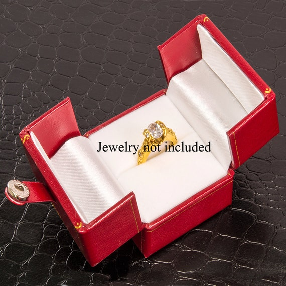 white ring box small wedding rings engament storage