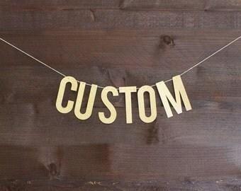 CUSTOM Glitter Banner