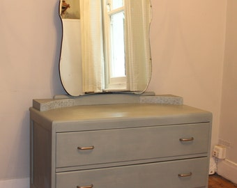 Vintage Dresser with Mirror | Hand finished in Annie Sloan