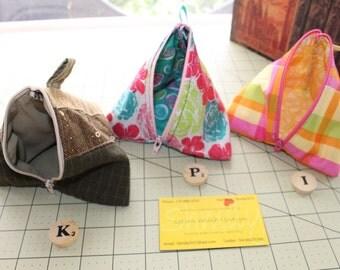 zippered triangle bag