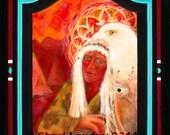 Spirit Guide - Healing Art - Visionary Art - Sacred Art - Shari Landau - SacredArtbyShari