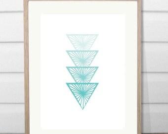 A3 Pep scale Aqua minimal print