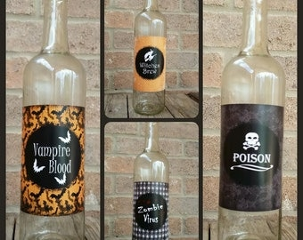Halloween Wine Labels / Halloween Party / Halloween Decorations
