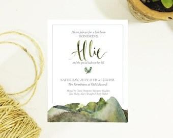 Mountain Bridal Shower Invitation
