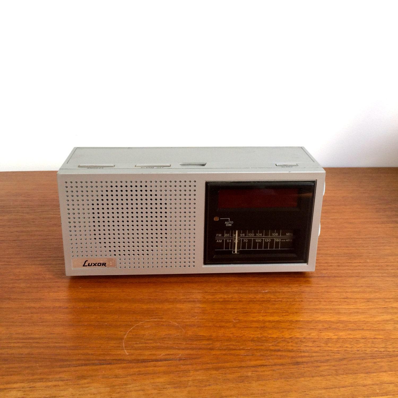 Luxor Ab Vintage Radio Swedish Design Clock Radio With