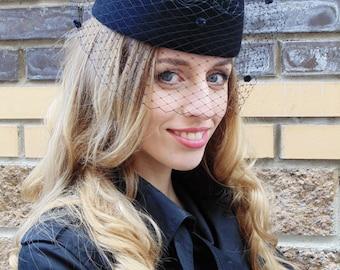 Women's felt hat Tablet Veils
