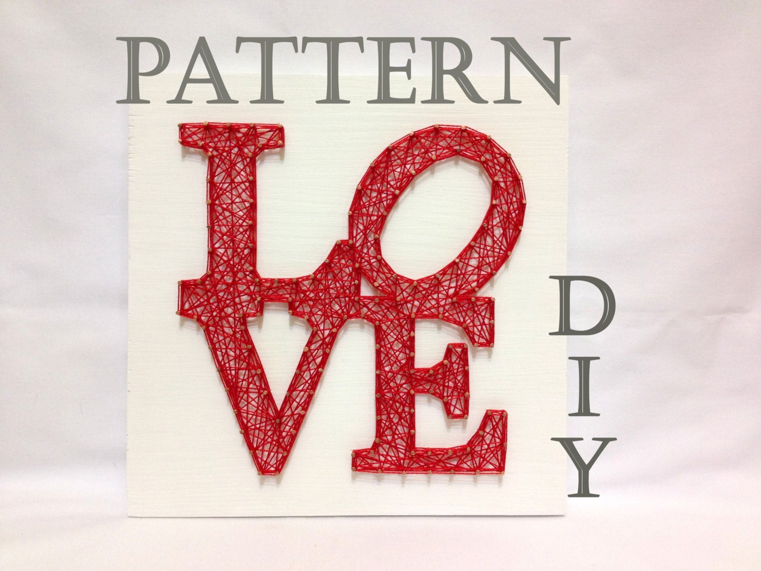 String Art Patterns Diy String Art Pattern Kit Love Pattern And Instructions