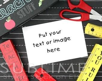 Styled Stock Photography / Styled Desktop / Teacher Theme / Mock Up / Back to Shool / JPEG Digital Image / StockStyle-515