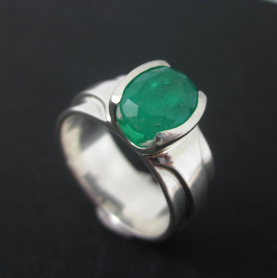 Emerald Ring Men s Emerald Ring Emerald Crystal Ring