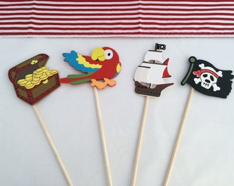 Pirate Centerpiece: Pirate Party Table Centerpiece, Table Decoration, Pirate Party Decoration