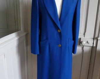 Caroline RHOMER - blue indigo vintage coat size 38FR