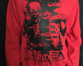 Attack on Titan sweatshirt Shingeki no kyojin sweat anime manga eren titan