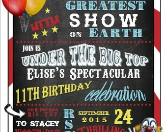 Carnival Circus Birthday Invitation