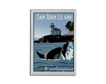 "Magnet: San Juan Island, WA 2 1/8"" x 3 1/8"""