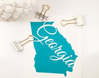 State Decal/Sticker, Car Decal, Laptop Decal, Monogram Decal, iPhone Decal, iPad Decal