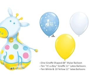Baby Soft Giraffe Balloon with latex balloons