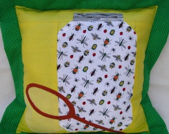 Bugs in a Jar Kid's Pillow
