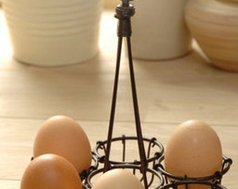 Provence French Style Shabby Chich Vintage Wire Egg Rack