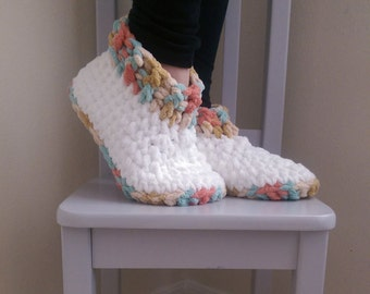 Cloud 9 Slipper Pattern *PDF ONLY* Instant Download Crochet Pattern