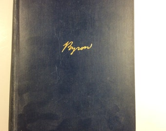 "Antique Book Byron by Andre Maurois, Translated by Hamish Miles, D. Appleton and Company 1930, measures 9x6x2"" #1027"
