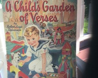 DISCOUNTED A Child's Garden of Verses Book-1942-Robert Louis Stevenson