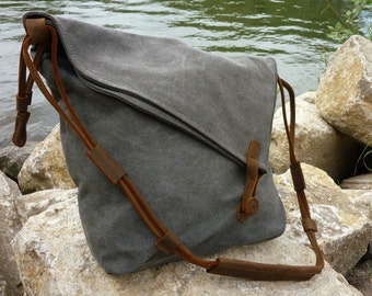 Aurora of canvas shoulder bag (gray)