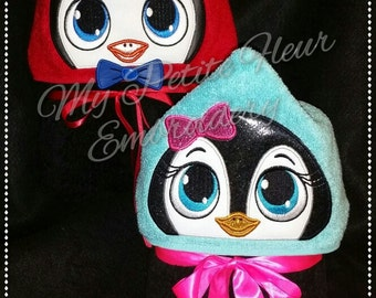 5x7 Boy and Girl Penguin Designs