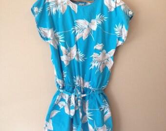 Hawaiian Print Shorts Onesie