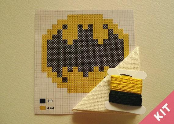 Mini Cross Stitch Kit - Batman