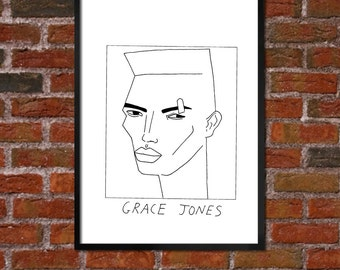 Badly Drawn Grace Jones - Poster - *** BUY 4, GET A 5th FREE***