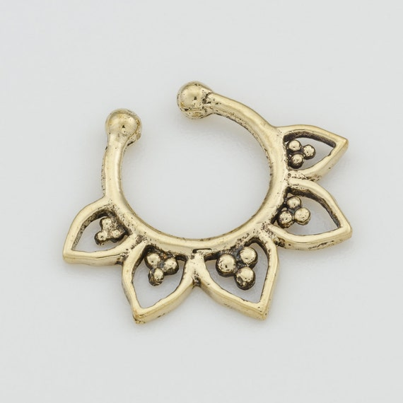 Fake Septum Ring. brass septum ring. indian septum ring. septum piercing. fake septum. septum jewelry. brass septum ring. septum ring.