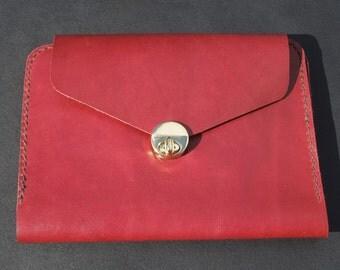 Burgundy Travel Clutch Wallet