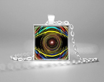 EYE PENDANT EYE Necklace Third Eye Jewelry 3rd Eye Necklace Psychedelic Eye Jewelry Psychic Eye Necklace Psychic Eye Pendant All Seeing Eye