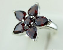 Size 5.5 AFRICAN GENUINE GARNET (Nickel Free) 925 Fine S0LID Sterling Silver Ring & Free Worldwide Express Shipping r1016
