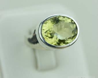 Size 7 INTENSE Gem GRADE CITRINE (Nickel Free) 925 Fine S0LID Sterling Silver Ring & Free Worldwide Express Shipping r1478