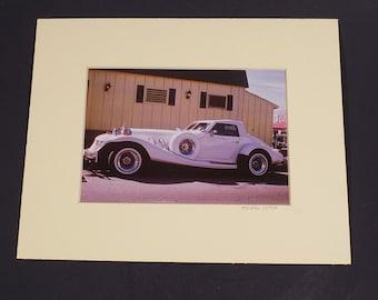 Original Photographic Art White Deusenberg 8 x 10