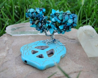Tranquil Turquoise (Natural) Gem Tree Home/Desk Decor OOAK