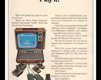 "Vintage Print Ad December 1978 : Atari Video Game System Wall Art Decor 8.5"" x 11"" Advertisement"