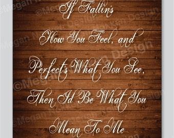 Mean To Me - Song Lyrics - 8x10 Print