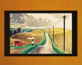 Eric Ravilious Art Print - Vintage Fine Art Naive Modernism Poster Paintings Print Wall Decor Ravilious Print Reproduction BUY 3 GET 1 FREE