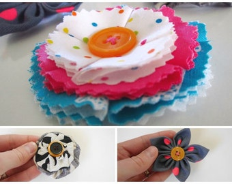 PDF Fabric Flowers Pattern and Tutorial in 3 Styles
