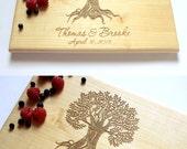Personalized Cutting Board Tree Cutting Board Wedding Gift Housewarming Gift Anniversary Gift Engraved Wood Chopping Block Custom