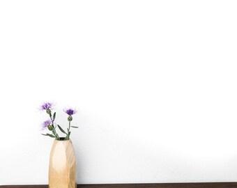 Faceted Bud Vase - Maple Hardwood - No Stain Used - Geometric Flower Bud Vase